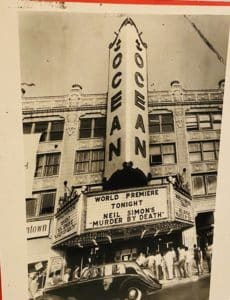 Black and white photo of Ocean theater before it became PPAC.