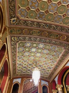 The beautiful ornate detailed ceilings of the PPAC.